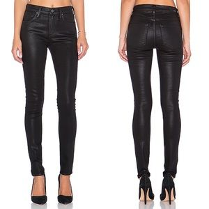 AGOLDE | Sophie Coated High Rise Skinny Jeans